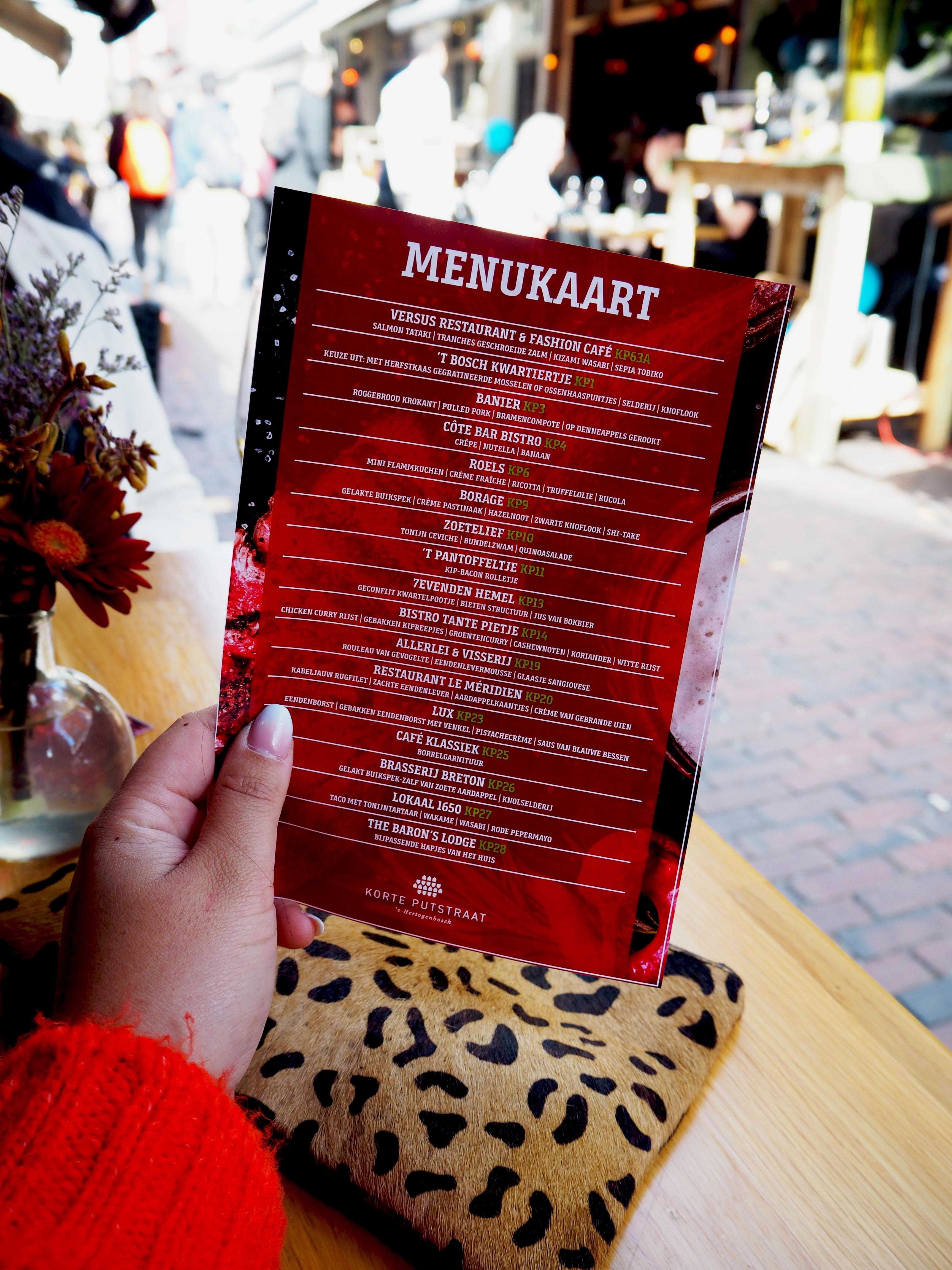 KP proeft de herfst menukaart