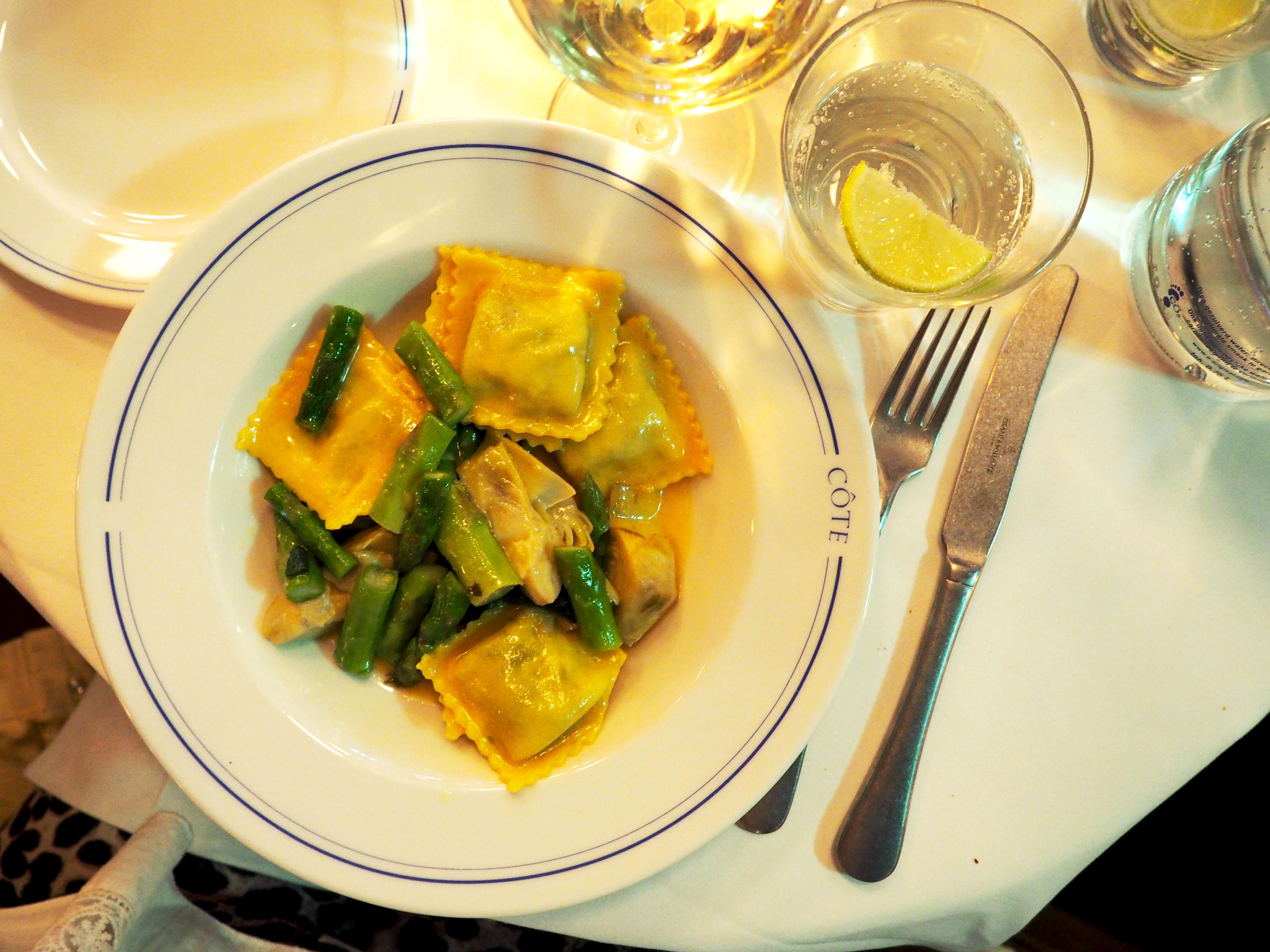 ravioli bij côte bar bistro met social deal