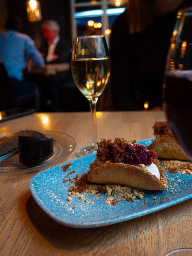 taco stoofpeer met dessertwijn bij lokaal 1650