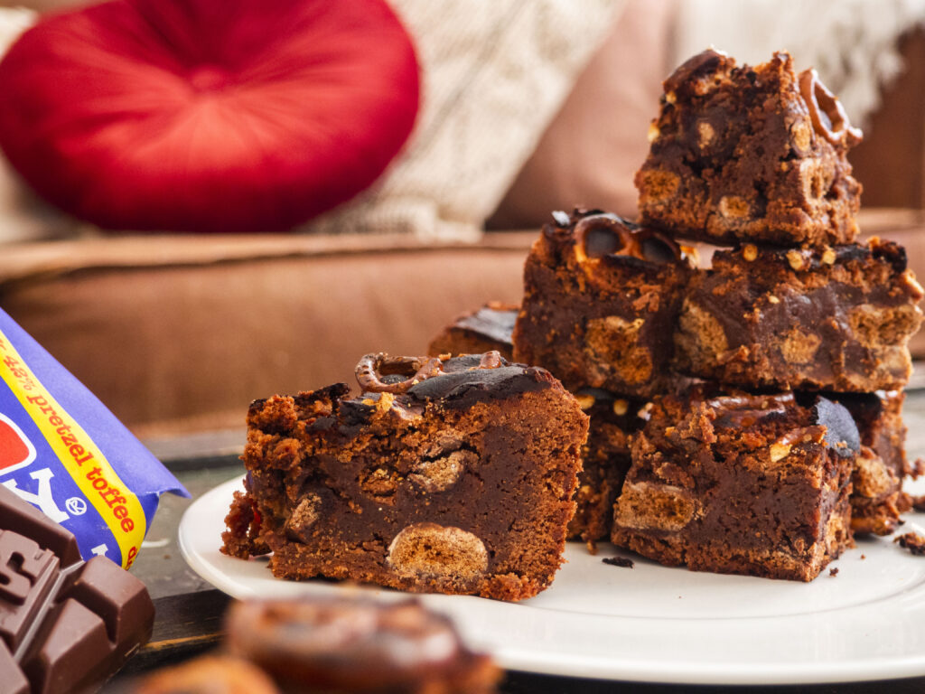tony's chocolonely pretzel chocolade pepernoten brownies
